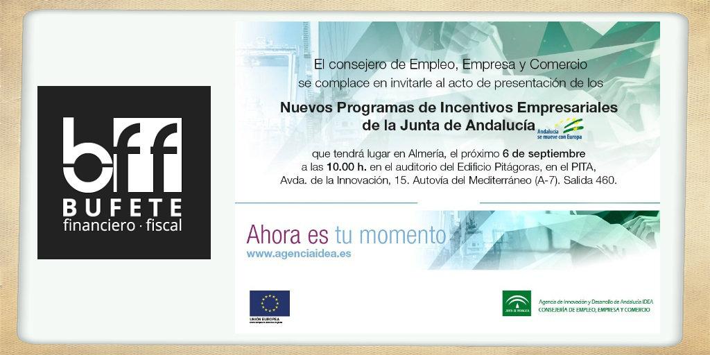 Repasamos los nuevos programas de incentivos empresariales en Andalucía